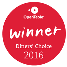 Open Diners Choice Awards Winner 2016 winner